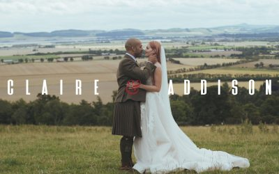 Guardswell Farm wedding video – Scotland wedding – Claire & Addison.