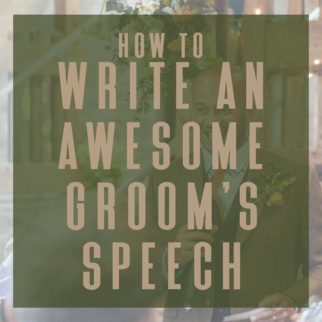 Write an awesome groom speech title card